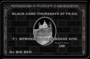 Black Card Thursdays At FR.OG