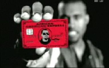 Kayne West Good Life African American Express Red AMEX
